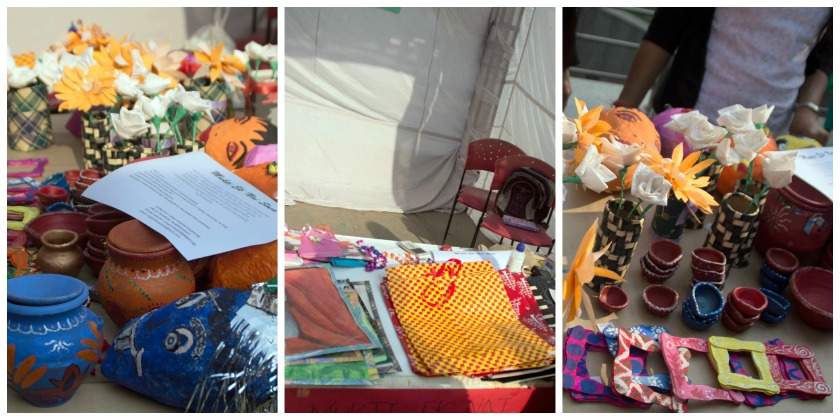 All products sold are hand made by the stall owners